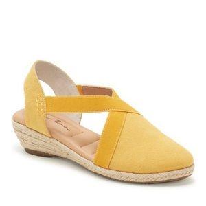 Me Too Nissa Yellow Canvas Espadrille Shoe